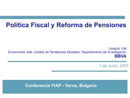 """""""Política Fiscal y Reforma de Pensiones"""" - Joaquín Vial - mayo"""