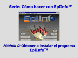 Epi Info instalacion