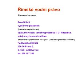 A. Kult - Výzkumný ústav vodohospodářský T. G. Masaryka