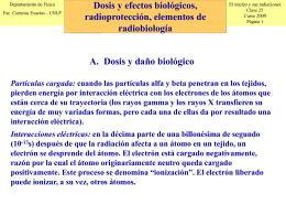 Elementos de radiobiología