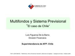 """Sistema Previsional y Multifondos """"El caso de Chile"""""""