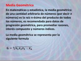 Est 10 media geométrica