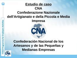 Estudio de caso CNA, Confederazione