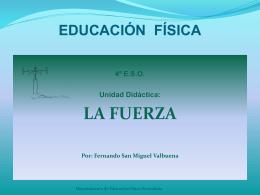 """presentacion """"la fuerza"""" - Colegio Blanca de Castilla"""