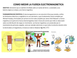 COMO MEDIR LA FUERZA ELECTROMAGNETICA.