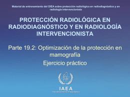 19. Optimización de la protección en mamografía: Parte 2