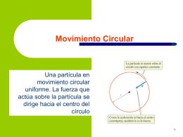 Fuerza en el movimiento circular uniforme