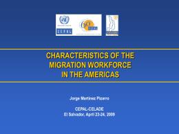 Características de la fuerza laboral migratoria en las Américas