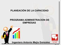 SESION 2. PLANEACIÓN DE LA CAPACIDAD