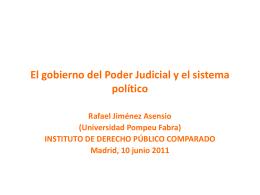 El gobierno del Poder Judicial y el sistema político