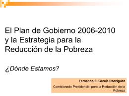 Plan de Gobierno Período 2006-2010