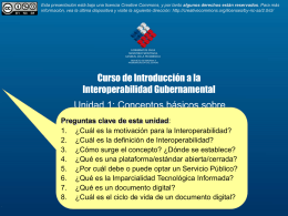 Introducción a la Interoperabilidad en Gobierno