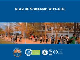 PLAN DE GOBIERNO 2012