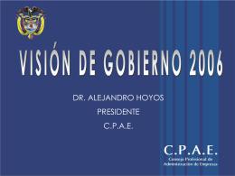 cpae visión de gobierno 2006