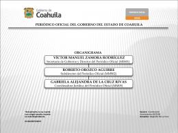 organigrama periodico oficial del gobierno del estado de coahuila