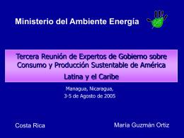 Tercera Reunión de Expertos de Gobierno sobre Consumo y