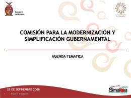 Modernización y Simplificación Gubernamental
