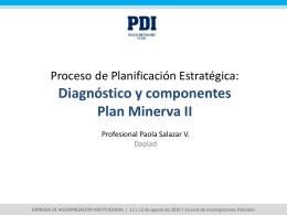 Diagnóstico y componentes Plan Minerva II