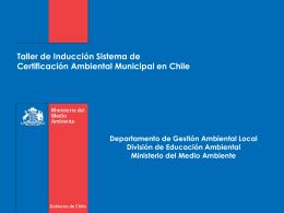 Taller de inducción SCAM - I. Municipalidad de Camarones