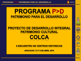 04 Colca - Programa P>D