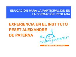 educación para la participación en la formación reglada
