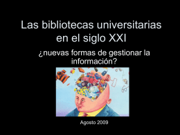 El movimiento Open Access - Universidad del Salvador