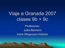 Viaje a Granada 2007 clases 9b + 9c