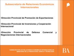 Dirección Provincial de Inversiones y Cooperación Internacional