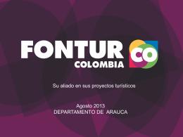 PRESENTACIÓN FONTUR ARAUCA 2013