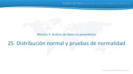 Distribución normal Análisis de Datos