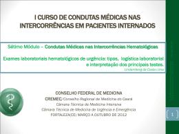 Exames laboratoriais hematológicos de urgência tipos, logística e