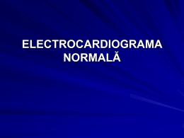 ECG normal - prima prezentare de la laborator