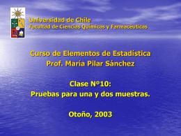 cl10bioestpreg2003 - Departamento de Matemática Aplicada y