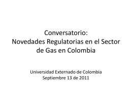 Balance de Gas - Universidad Externado de Colombia