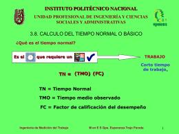 Qué es el tiempo normal? - Instituto Politécnico Nacional