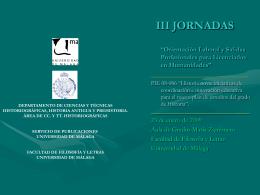 III JORNADAS - Infouma - Universidad de Málaga