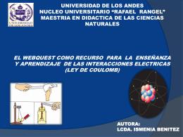 webquest_cargas electricas - maestría en didáctica de las ciencias