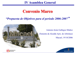 Propuesta de Objetivos para el periodo 2006-2007