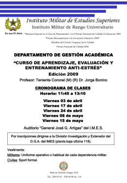 Afiche Curso 2009 - IMES - Instituto Militar de Estudios Superiores