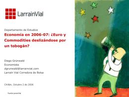 USD / Euro - Larrain Vial
