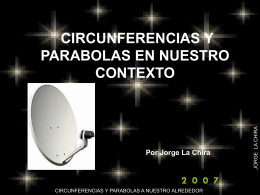 circunferencias y parabolas