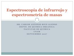 Espectroscopía de Infra Rojo