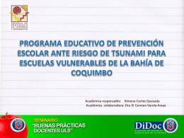 Programa Educativo de Prevención Escolar ante Riesgo De Tsunami