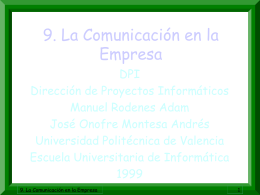 9. La Comunicación en la Empresa.
