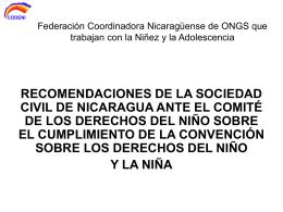 CODENI ANTE el COMITE GINEBRA SUIZA
