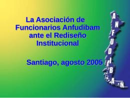 Ago 2005 La Anfudibam ante el rediseño institucional