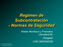 8-Presentación Régimen de Subcontratación