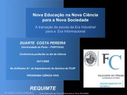 Duarte Costa Pereira - Nova Educação, Nova Ciência, Nova