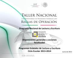 Taller Nacional PNLE - Programa Nacional de Lectura