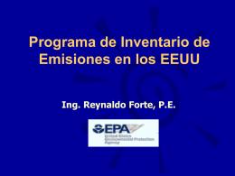 Programa de Inventario de Emisiones en los EEUU